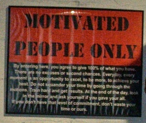 motivated people only