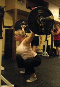 teal overhead squat